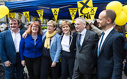 The First Minister, Nicola Sturgeon, campaigning in Leith by campaigning that the SNP will be a voice for young people.<br /> <br /> Pictured: Tommy Sheppard, Deirdre Brock, Joanna Cherry, Nicola Sturgeon, Jim Eadie and Toni Giuliagno