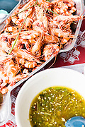 Prawns and seafood dipping sauce prepared by David Thompson at Andy Ricker's house, Chiang Mai