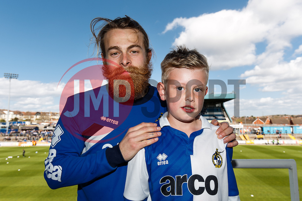 Executive box picture with Stuart Sinclair of Bristol Rovers - Photo mandatory by-line: Rogan Thomson/JMP - 07966 386802 - 11/04/2015 - SPORT - FOOTBALL - Bristol, England - Memorial Stadium - Bristol Rovers v Southport - Vanarama Conference Premier.