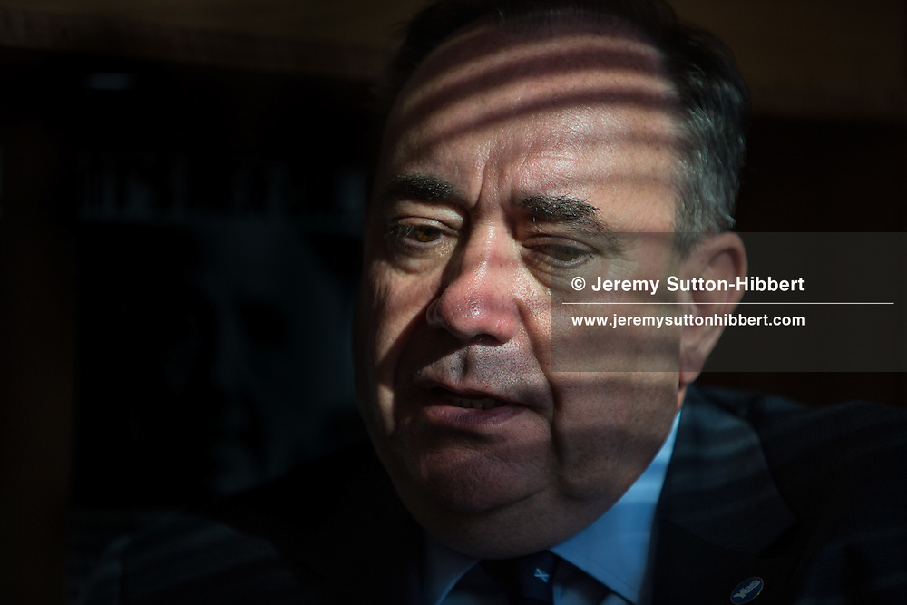 First Minister of Scotland, Alex Salmond, in Edinburgh, Scotland on Wednesday September 10th, 2014.
