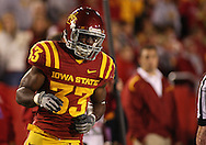 25 OCTOBER 2008: Iowa State running back Alexander Robinson (33) in the first half of an NCAA college football game between Iowa State and Texas A&M, at Jack Trice Stadium in Ames, Iowa on Saturday Oct. 25, 2008. Texas A&M beat Iowa State 49-35.