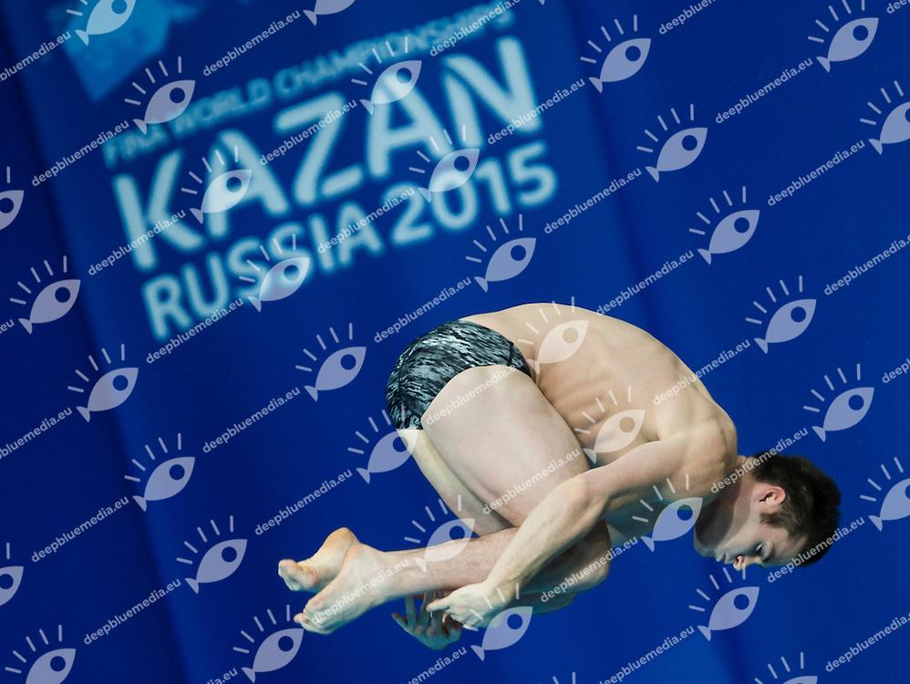 BOUDIA David USA silver medal<br /> Diving - Men's 10m Platform final<br /> Day 10 02/08/2015<br /> XVI FINA World Championships Aquatics Swimming<br /> Kazan Tatarstan RUS July 24 - Aug. 9 2015 <br /> Photo Giorgio Perottino/Deepbluemedia/Insidefoto