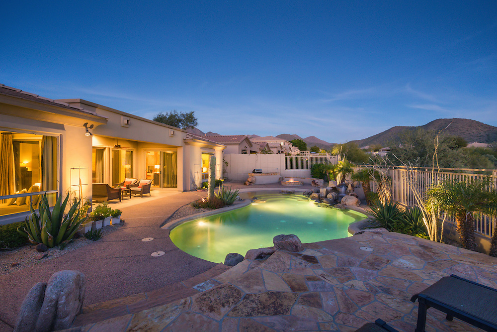 McDowell Mountain luxury real estate photography, Scottsdale, Arizona