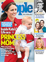 People Magazine Cover: The Duke and Duchess of Cambridge and Prince George land in Wellington, at the start of their tour of New Zealand and Canada on the 7th April 2014.<br />