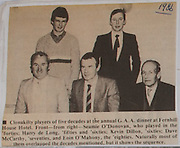 Clonakilty players at GAA dinner at Fernhill Hotel 1986,