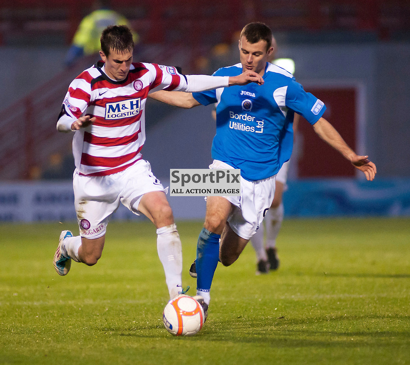 Hamiltons Grant Anderson gets away from Kevin Smith,Hamilton Academical v Queen of the South