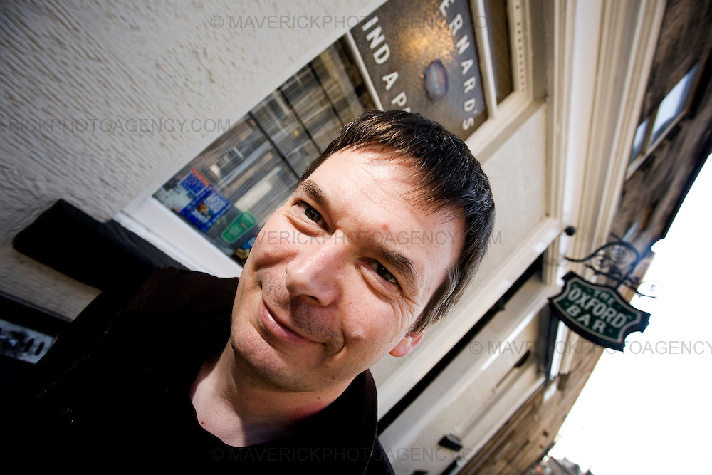 Ian Rankin, Scottish author and creator of the Inspector Rebus novels outside the 'Oxford Bar' The bar was made famous as it is the place where character Inspector Rebus drinks..Picture Michael Hughes/Maverick