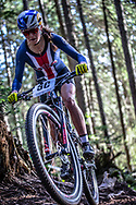 Kate Courtney (USA) during the Team Relay  at the 2018 UCI MTB World Championships - Lenzerheide, Switzerland