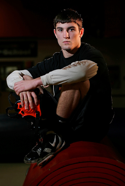 BJ Wilson, Willamina High wrestler. Photographed on Tuesday Dec. 15, 2009.