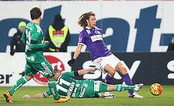 14.02.2016, Generali Arena, Wien, AUT, 1. FBL, FK Austria Wien vs SK Rapid Wien, 22. Runde, im Bild Thomas Murg (SK Rapid Wien), Steffen Hofmann (SK Rapid Wien) und Lukas Rotpuller (FK Austria Wien) // during Austrian Football Bundesliga Match, 22nd Round, between FK Austria Vienna and SK Rapid Vienna at the Generali Arena, Vienna, Austria on 2016/02/14. EXPA Pictures © 2016, PhotoCredit: EXPA/ Thomas Haumer