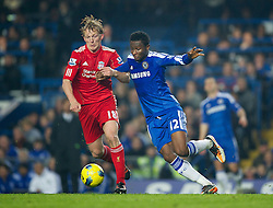 20.11.2011, Stamford Bridge Stadion, London, ENG, PL, FC Chelsea vs FC Liverpool, 12. Spieltag, im Bild Liverpool's Dirk Kuyt in action against Chelsea's John Mikel Obi during the Premiership match at Stamford Bridge, London, United Kingdom on 20/11/2011. EXPA Pictures © 2011, PhotoCredit: EXPA/ Sportida/ David Rawcliff..***** ATTENTION - OUT OF ENG, GBR, UK *****