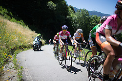 Megan Guarnier (USA) of Boels-Dolmans Cycling Team rides up the Mortirolo during the Giro Rosa 2016 - Stage 5. A 77.5 km road race from Grosio to Tirano, Italy on July 6th 2016.
