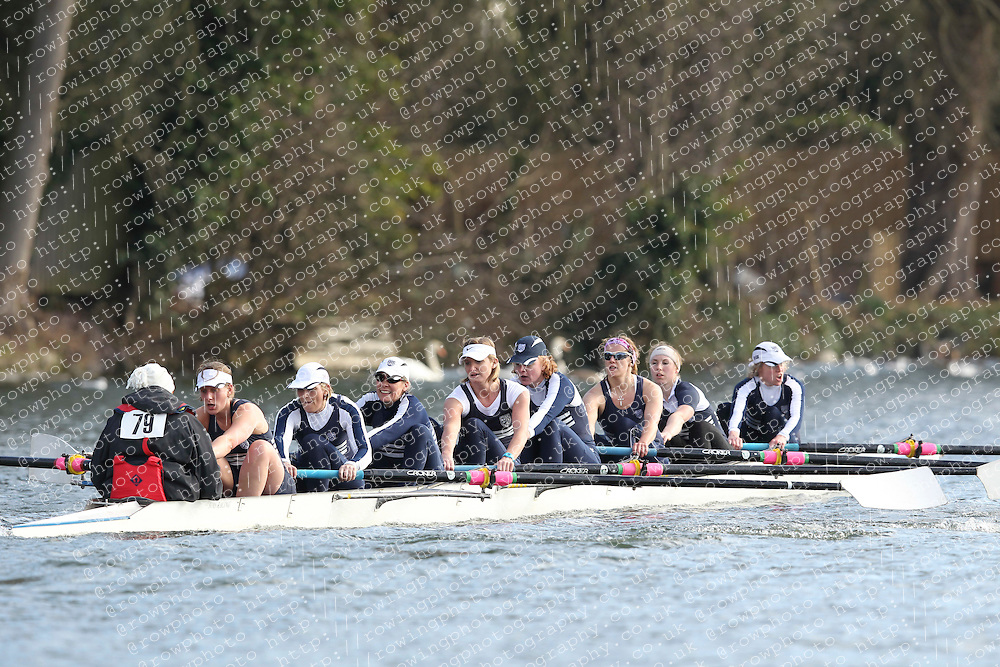 2012.02.25 Reading University Head 2012. The River Thames. Division 1. Upper Thames Rowing Club W.Sen8+