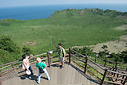 Touristf makes snapshot of Greg McCormack - Sangumburi Crater Volcano - Jeju Island - South Korea
