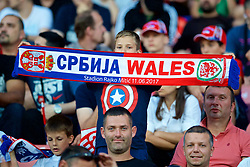 BELGRADE, SERBIA - Sunday, June 11, 2017: A Serbia supporter before the 2018 FIFA World Cup Qualifying Group D match between Wales and Serbia at the Red Star Stadium. (Pic by David Rawcliffe/Propaganda)