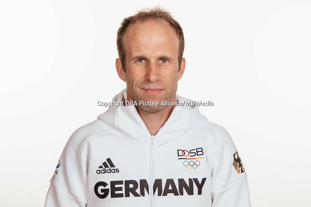 Dr. Martin Baumann poses at a photocall during the preparations for the Olympic Games in Rio at the Emmich Cambrai Barracks in Hanover, Germany, taken on 15/07/16 | usage worldwide