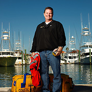 St. Augustine, FLORIDA - Tim Martin, of Jacksonville, poses at the Comachee Cove Yacht Harbor on Monday, November 15, 2010.