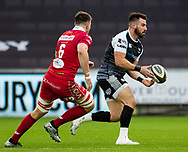 Scott Baldwin of Ospreys<br /> <br /> Photographer Simon King/Replay Images<br /> <br /> Guinness PRO14 Round 11 - Ospreys v Scarlets - Saturday 22nd December 2018 - Liberty Stadium - Swansea<br /> <br /> World Copyright © Replay Images . All rights reserved. info@replayimages.co.uk - http://replayimages.co.uk