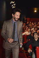 LYON, FRANCE - OCTOBER 15: Actor Keanu Reeves presents the film 'Side by Side' during the Grand Lyon Film Festival on October 15, 2014 in Lyon, France. (Photo by Bruno Vigneron/Getty Images)
