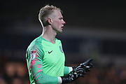 Macclesfield goal keeper Jonathan Mitchell during the EFL Sky Bet League 2 match between Macclesfield Town and Crewe Alexandra at Moss Rose, Macclesfield, United Kingdom on 21 January 2020.
