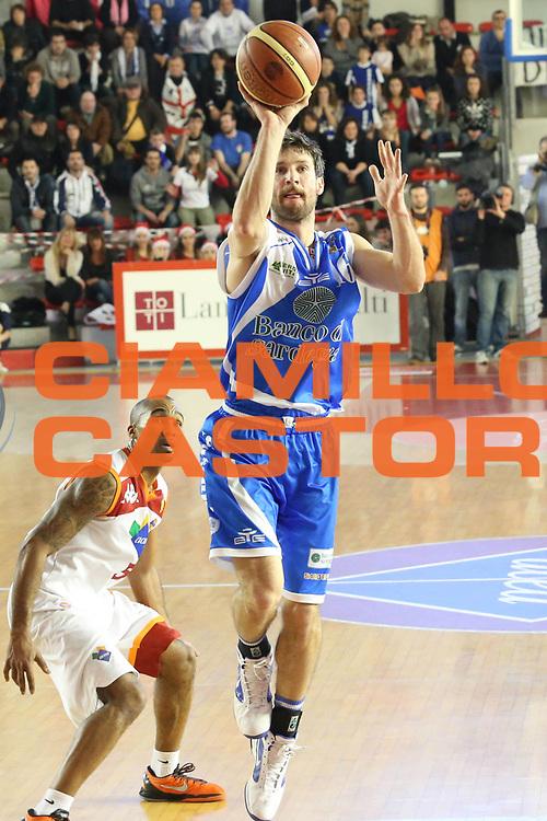 DESCRIZIONE : Roma Lega A 2012-13 Acea Roma Banco di Sardegna Sassari<br /> GIOCATORE : Drake Diener<br /> CATEGORIA : tiro<br /> SQUADRA : Banco di Sardegna Sassari<br /> EVENTO : Campionato Lega A 2012-2013 <br /> GARA : Acea Roma Banco di Sardegna Sassari<br /> DATA : 23/12/2012<br /> SPORT : Pallacanestro <br /> AUTORE : Agenzia Ciamillo-Castoria/M.Simoni<br /> Galleria : Lega Basket A 2012-2013  <br /> Fotonotizia :  Roma Lega A 2012-13 Acea Roma Banco di Sardegna Sassari<br /> Predefinita :
