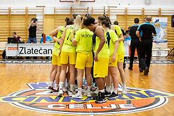 Players of ZKK Cinkarna Celje after basketball match between ZKK Cinkarna Celje (SLO) and MBK Ruzomberok (SVK) in Round #6 of Women EuroCup 2018/19, on December 13, 2018 in Gimnazija Celje Center, Celje, Slovenia. Photo by Urban Urbanc / Sportida