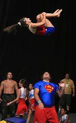 Super heroji, Flip, Slovenia during Show programme at second day of European Cheerleading Championship 2008, on July 6, 2008, in Arena Tivoli, Ljubljana, Slovenia. (Photo by Vid Ponikvar / Sportal Images).