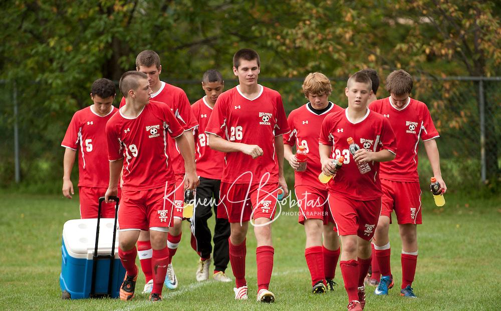Gilford Varsity Soccer versus Belmont September 24, 2011.