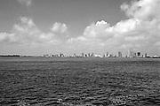 Miami, Florida, Skyline, B/W