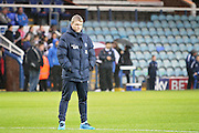 Peterborough United manager Grant McCann watching his team warm up before the EFL Sky Bet League 1 match between Peterborough United and Chesterfield at London Road, Peterborough, England on 10 December 2016. Photo by Nigel Cole.