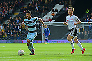 Queens Park Rangers midfielder Massimo Luongo (21) makes a break from Fulham FC midfielder Scott Parker (8) during the EFL Sky Bet Championship match between Fulham and Queens Park Rangers at Craven Cottage, London, England on 1 October 2016. Photo by Jon Bromley.