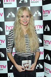 Nina Nesbitt Scottish acoustic folk singer/songwriter hosts meet and greet with fans as she signs copies of her debut album, Peroxide.<br /> HMV Oxford Street, 363 Oxford Street, London, W1C 2LA, United Kingdom, Friday, 21st February 2014. Picture by Chris Joseph / i-Images