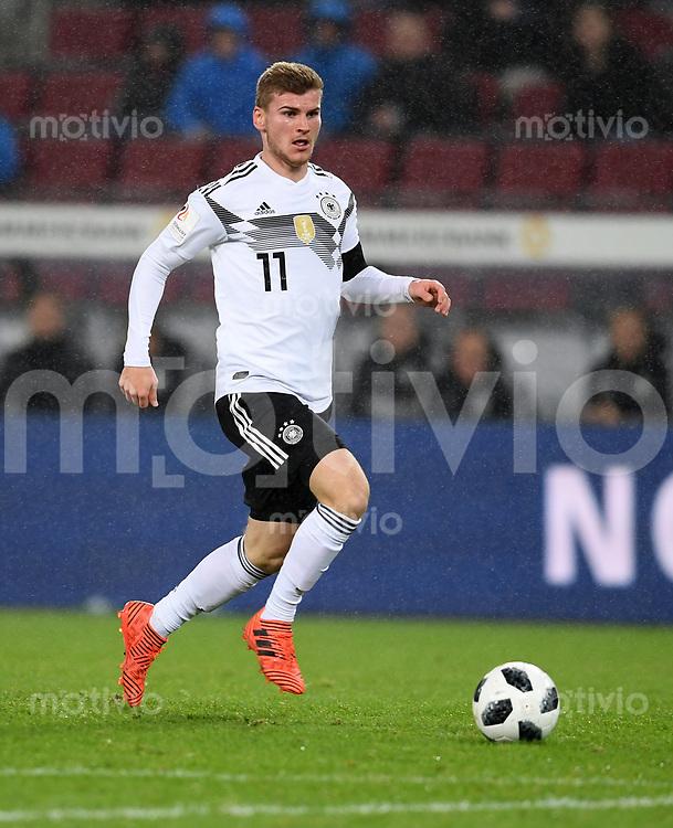 FUSSBALL  INTERNATIONAL TESTSPIEL  IN KOELN   Deutschland - Frankreich        14.11.2017 Timo Werner (Deutschland)