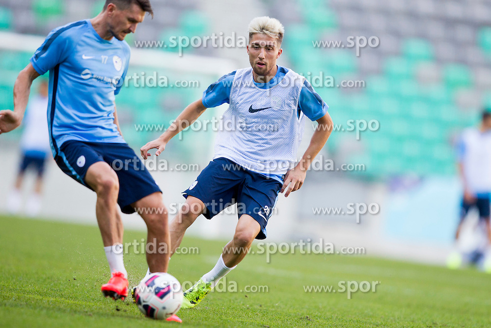 Andraz Kirm and Kevin Kampl during practice session of Slovenian National Football Team before Euro 2016 Qualifications match against Switzerland, on September 1, 2015 in SRC Stozice, Ljubljana, Slovenia. Photo by Urban Urbanc / Sportida