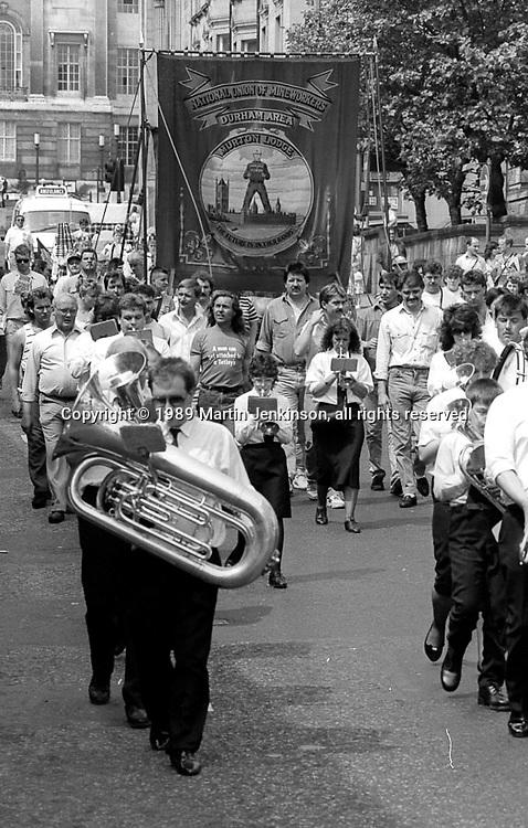 Durham Area banner. NUM Centenary Demonstration and Gala, Barnsley.