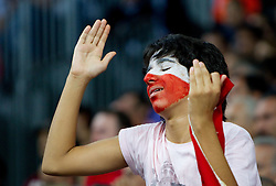 Fan of Turkey during the finals basketball match between National teams of Turkey and USA at 2010 FIBA World Championships on September 12, 2010 at the Sinan Erdem Dome in Istanbul, Turkey.  USA defeated Turkey 81 - 64 and became World Champion 2010. (Photo By Vid Ponikvar / Sportida.com)