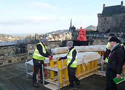 EDINBURGH'S HOGMANAY FIREWORKS SET UP, Thursday 29 December 2016<br /> <br /> The fireworks for Edinburgh's Hogmanay Party are set up at Edinburgh Castle<br /> <br /> (c) Alex Todd | Edinburgh Elite media