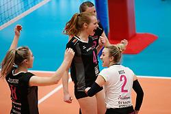 20180218 NED: Bekerfinale Eurosped - Sliedrecht Sport, Hoogeveen <br />Eline Gommans (4) of Team Eurosped<br />©2018-FotoHoogendoorn.nl