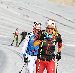 09.10.2014, Dachstein Gletscher, Ramsau, AUT, FIS Weltcup Langlauf, Langlauftraining am Dachstein, im Bild Nicole Fessel (GER) // Nicole Fessel of Germany during Training for upcoming FIS Cross Country Season at the Dachstein Gletscher in Ramsau, Austria on 2014/10/09. EXPA Pictures © 2014, PhotoCredit: EXPA/ Martin Huber
