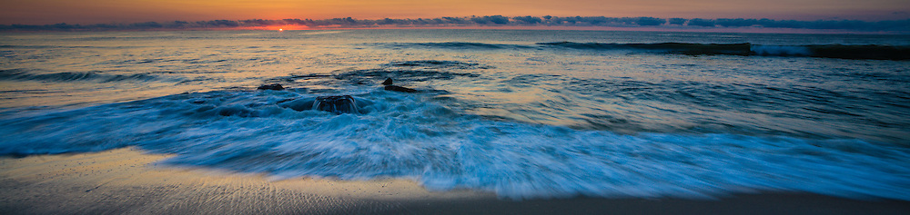 Photograph of sunrise on the beach on Long Beach Island, New Jersey