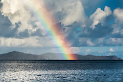 Rainbow shining over the British Virgin Islands