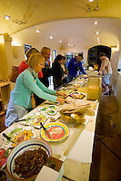 Celebrated throughout Canada, the Salt Spring Island Cheese Co. on Salt Spring Island attracts visitors to showcasing rooms wanting to sample David Wood's Artisan Cheeses.  Salt Spring Island, Gulf Islands, British Columbia, Canada.