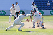 Billy Root edges past Paul Horton during the Specsavers County Champ Div 2 match between Glamorgan County Cricket Club and Leicestershire County Cricket Club at the SWALEC Stadium, Cardiff, United Kingdom on 18 September 2019.