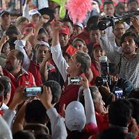 Ecatepec, México.- (Mayo 31, 2017).- Alfredo del Mazo Maza, candidato de la coalición PRI-PVEM-PES-PNA cerró su campaña rumbo a la gubernatura del Estado de México en el municipio de Ecatepec, acompañado de lideres seccionales. Agencia MVT / José Hernández.