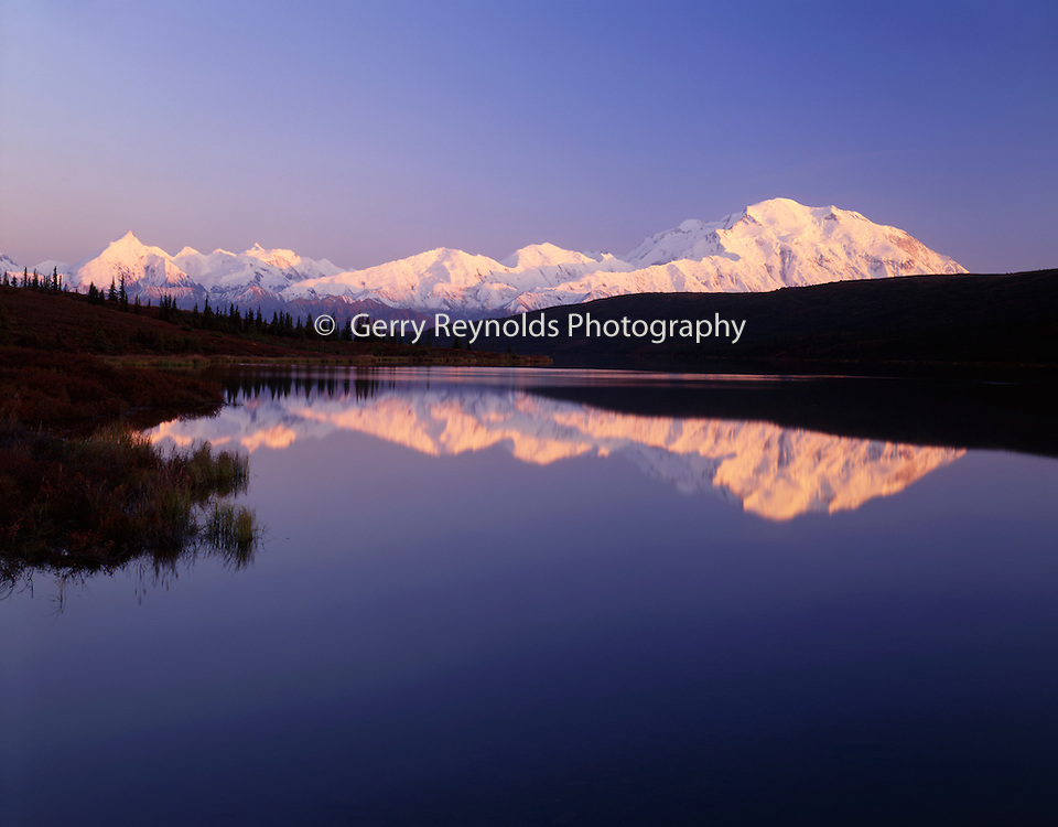 Sunset, Wonder Lake, reflection, Mt. McKinley, Mount McKinley, Denali, Denali National Park, National Park, Alaska, Alaska Range