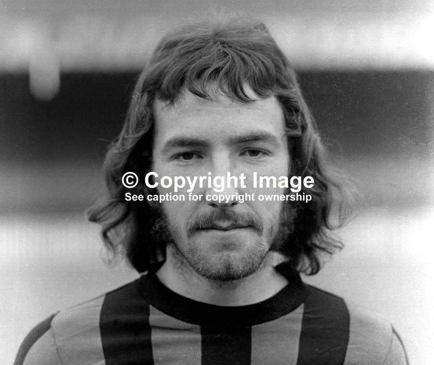 Liam Beckett, footballer, Crusaders FC, Belfast, N Ireland, August 1972. In 2016 Beckett was a football pundit for BBC N Ireland. 197208000498<br />