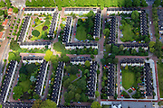 Nederland, Noord-Holland, Amsterdam, 14-06-2012; Watergraafsmeer, Tuindorp Frankendaal met duplexwoningen - ook bekend als Jerusalem. Boven in beeld Hugo de Vrieslaan, links Maxwellstraat..Garden village Frankendael (part of residential district Watergraafsmeer) in the eastern part of Amsterdam. .luchtfoto (toeslag), aerial photo (additional fee required).foto/photo Siebe Swart