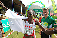 HARTEBEESPOORT, SOUTH AFRICA, Saturday 17 March 2011, Chiyedza Chokore of Mr Price 3:35:06 winner of the women's race during the Old Mutual Om Die Dam ultra marathon at the Hartebeespoort Dam, outside Pretoria..Photo by Roger Sedres/Image SA