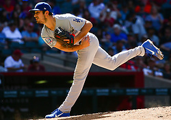 May 3, 2018 - Phoenix, AZ, U.S. - PHOENIX, AZ - MAY 03: Los Angeles Dodgers relief pitcher JT Chargois (47) pitches during the MLB baseball game between the Arizona Diamondbacks and the Los Angeles Dodgers on May 3, 2018 at Chase Field in Phoenix, AZ (Photo by Adam Bow/Icon Sportswire) (Credit Image: © Adam Bow/Icon SMI via ZUMA Press)