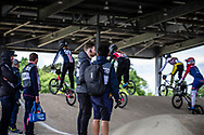 at Round 5 of the 2019 UCI BMX Supercross World Cup in Saint-Quentin-En-Yvelines, France
